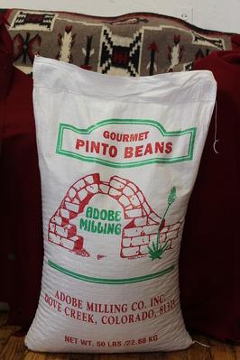 Gourmet Pinto Beans 50 Pound Poly Sack Beans